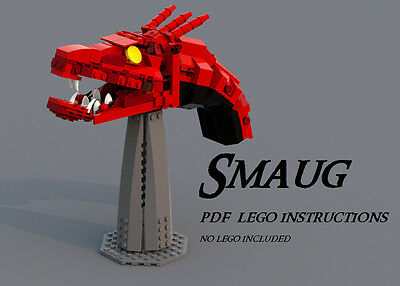 LEGO MOC - Lego SMAUG custom PDF Instructions Lord of the Rings Hobbit movies