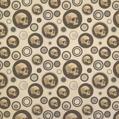 Gothic Human Skull Kraft Present Gift Wrap Wrapping Paper