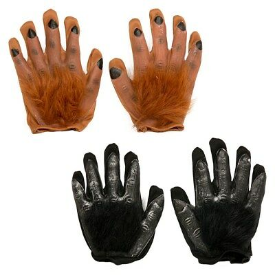 Hairy Hand Gloves Zombie Monster Witch Wolf Halloween Fancy Dress Decorations