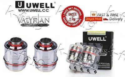 100% GENUINE UWELL VALYRIAN COIL HEADS COILS 0.15Ohm Quad Coil Rated for 95-120W