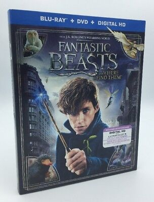 Fantastic Beasts and Where to Find Them (Blu-ray+DVD+Digital) NEW w/ Slipcover
