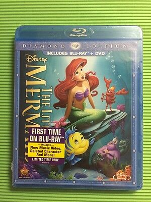 Little Mermaid, The (Blu-ray+DVD, 2013, Diamond Ed.) NEW - OOP! Authentic Disney