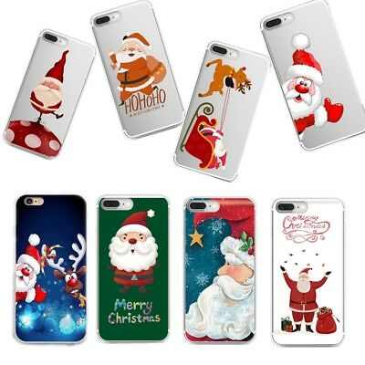 Rubber Ultra-Thin Clear Silicone Soft TPU Cover Merry Christmas Case For Samsung