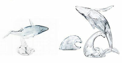 Swarovski Scs 2012 Paikea, Humpback Whale And Young Humpback Whale - Boxed
