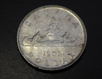 Canada 1951 Silver dollar about UNC