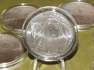 Milkspotted 1 oz  2016 Silver 999 African Lion Congo