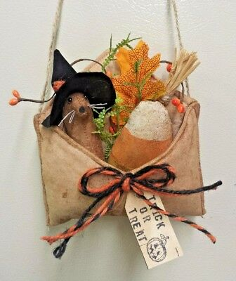 Primitive/Trick or Treat/Halloween/Envelope/Mouse/Ornie/Bowl Filler/Grunged
