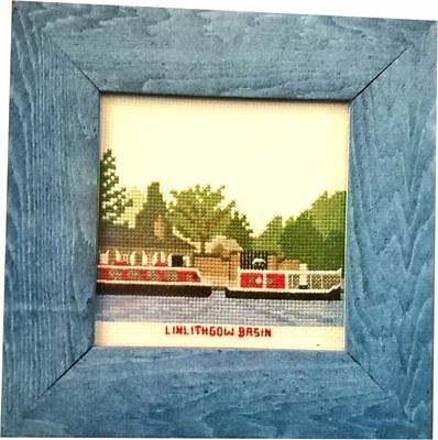 Abacus Designs Linlithgow Basin, Union Canal Cross Stitch Framed