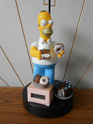 HOMER SIMPSON talking alarm clock DONUTS AND CHOCOLATE CAKE working WESCO 1998