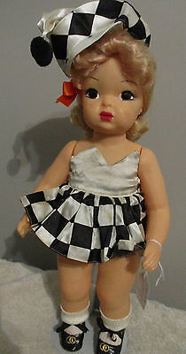 Doll Terri Lee in  Halloween Costume Black and White Tagged 1950s