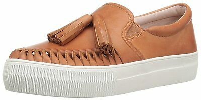 Vince Camuto Women's Kayleena Slip On Leather Fashion Sneakers Equestrian Brown
