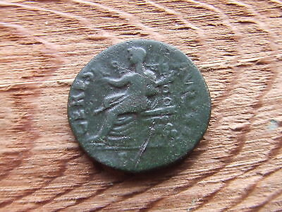 Roman. Claudius.  41-54 Ad.  Bronze Dupondius.   Ceres Seated.   Scarce.