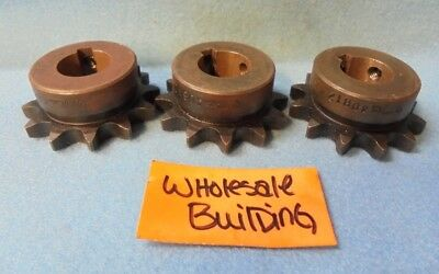 "Martin Roller Chain Sprocket 40B12, 3/4"" Bore, 2.166"" Od, 1/2"" Pitch, Lot Of 3"