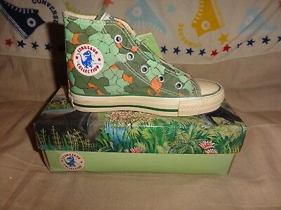 Vintage Converse Kids Conasaur High Tops Size 12 Kids Very Rare With Box