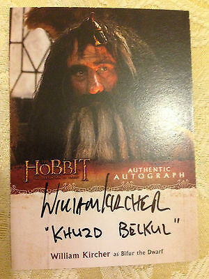 The Hobbit Desolation of Smaug Autograph Card William Kircher as Bifur Variant