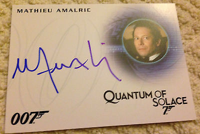 James Bond Archives 2015 Autograph Card A273 Mathieu Amalric As Dominic Greene