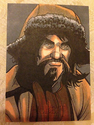 The Hobbit An Unexpected Journey Sketch Card Bofur by Rich Molinelli 1/1