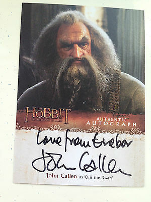 The Hobbit Desolation of Smaug Autograph Card John Callen as Oin Variant