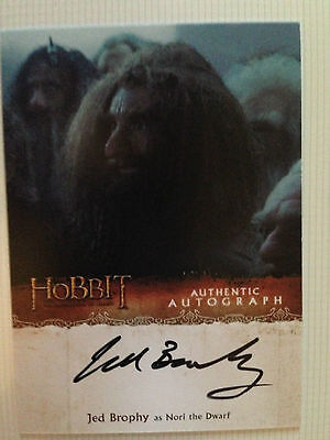 The Hobbit Desolation of Smaug Autograph Card Jed Brophy as Nori