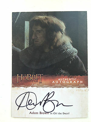 The Hobbit Desolation of Smaug Autograph Card Andrew Brown as Ori