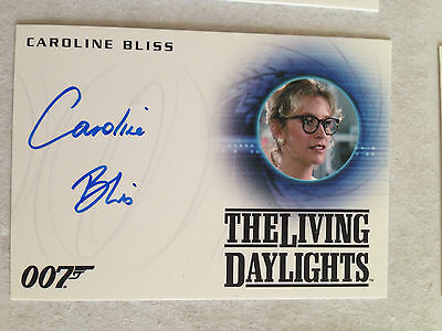 James Bond Archives 2015 Autograph Card A263 Caroline Bliss As Miss Moneypenny