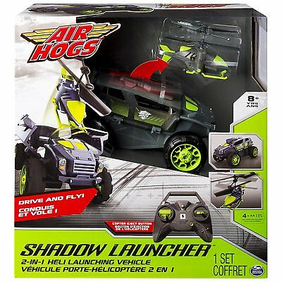 Air Hogs Shadow Launcher Car Copter 2-In-1 Heli Launching Vehicle #20070177! New