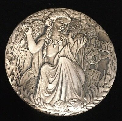 2017 Tuvalu NORSE GODDESSES – Frigg 2oz Silver Antiqued HIGH RELIEF Coin