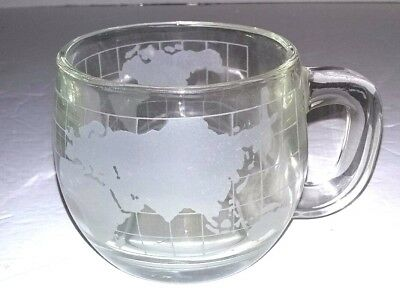 Vintage 1970's Nestle Nescafe Coffee Glass World Mug Cup