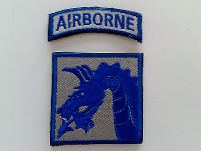 1 SET = 2 PCS. NEW US ARMY 18th Airborne Corps emb. patch hook back