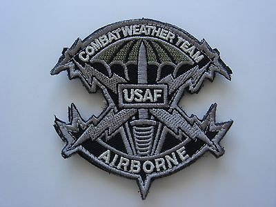 1 pc US AIR FORCE Combat Weather Team emb patch hook back