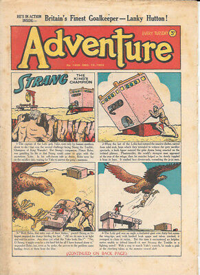 Adventure 1456 (Dec 13, 1952) very high grade - Strang by Dudley D Watkins