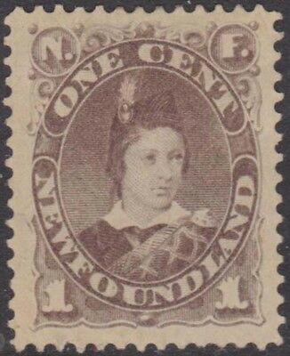 NEWFOUNDLAND QV 1880-82 Issue 1 Cent Scott 42  SG44  Mint Hinged cv £42