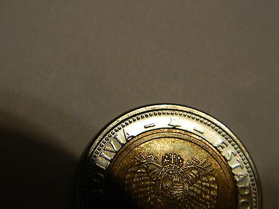 2010 Bolivia 5 Bolivianos Core Slightly Off-Center---Lot #1,913