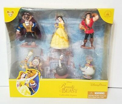 Disney Parks Exclusive Figure Set Beauty and the Beast Figurine Cake Toppers