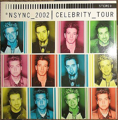NSYNC 2002 Celebrity Tour Program Justin Timberlake JC Chasez Joey Fatone Lance