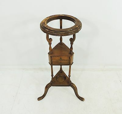 Vintage Original Rustic Baker Furniture Wood Plant Stand