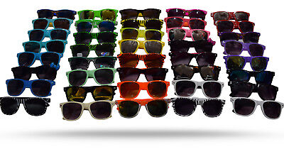 New Unisex 6 Pack 80's Retro Neon wayfare Sunglasses Combo 6 color Wholesale Lot