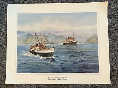M.V. LADY ROSE & S.S. LADY ALEXANDRA Southbound In Howe Sound Vancouver BC Print