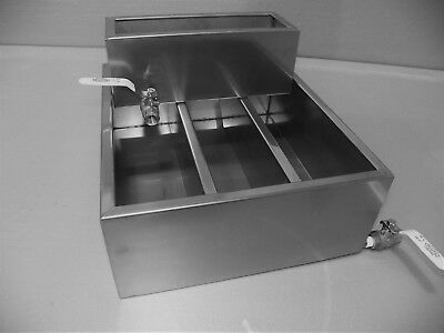 Maple sugaring  Evaporator pan with warming pan and lead free ball valves