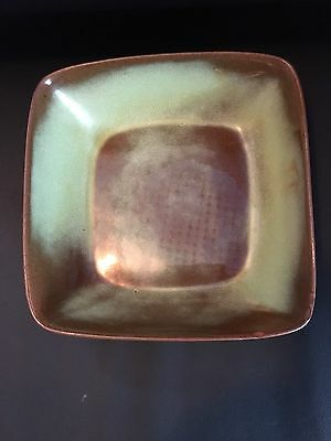 "Frankoma Pottery Prairie Green 5NS Square 81/2"" Serving Dish"