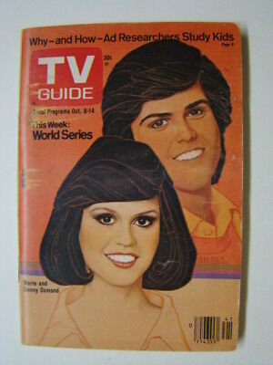 TV Guide Magazine Marie and Donny Osmond Cover 1977