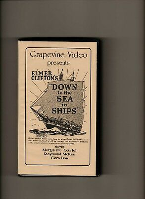 Down To The Sea In Ships-1922-Clara Bow-New Vhs Tape Grapevine High Quality