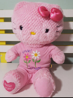 Build A Bear Smart Hello Kitty Plush Toy! Soft Toy About 34Cm Seated Kids Toy!
