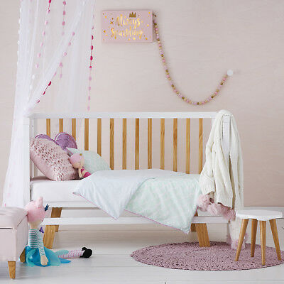 Adairs Kids Magic Ocean Mint Cot Quilt Cover Set BNIB - RRP $99.99