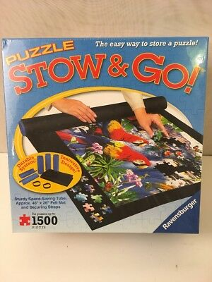 "New Ravensburger Stow & Go Puzzle Board Roll Up Storage Mat 46"" x 26"" 1500 Pcs"