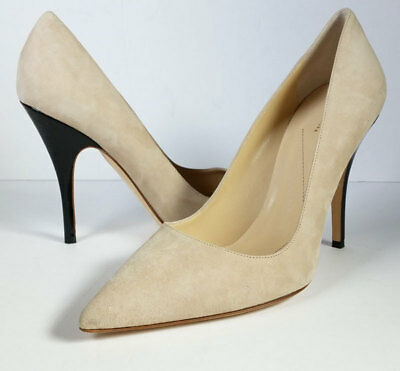 7c0a3f35b8d0  298 KATE SPADE 8 Kate Spade  Licorice  Beige Suede Pointed Toe Pumps   EXCELLENT