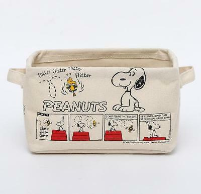 Snoopy Peanuts Woodstock Canvas Home Storage Box Glove Makeup Box Case Holder