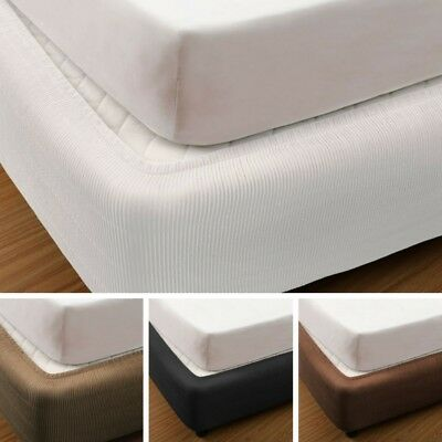 VALANCE - Quilted Box Spring Cover | Elasticised | Fully Fitted | Washable