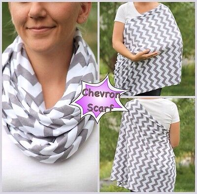 Reversible Maternity Nursing/Breastfeeding Cover Scarf/Poncho ** DEFECT