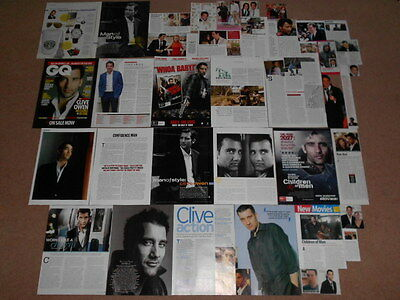 40- CLIVE OWEN Magazine Clippings